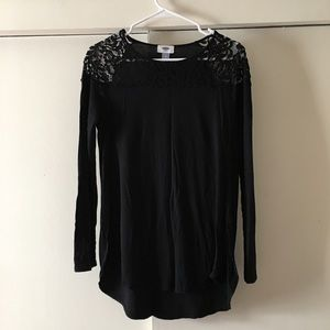 Old Navy Black Top with Lace